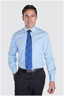 Unifarbenes Langarmhemd in Langgrößen.