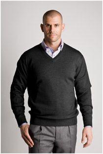Pullover mit V-Ausschnitt in Langgrößen