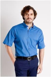 Unifarbenes Kurzarmhemd von Plus Man.