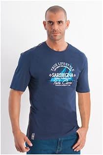 Kurzarm T-Shirt mit Sardegna-Aufdruck von Redfield.