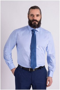 Uni extra langes Hemd von Plusman