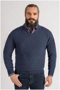 Extra langer Lammwoll-Pullover von Kitaro.