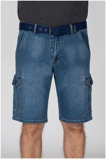 Elastische Cargo Jeans-Bermuda von Koyote