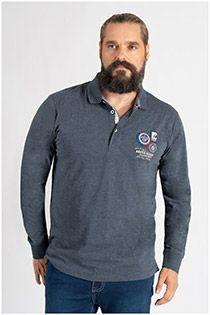 Redfield Langarm-Poloshirt