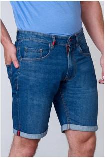 Elastische Jeansshorts von D555.