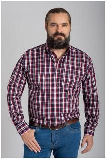 Kariertes Langarmhemd von Plusman