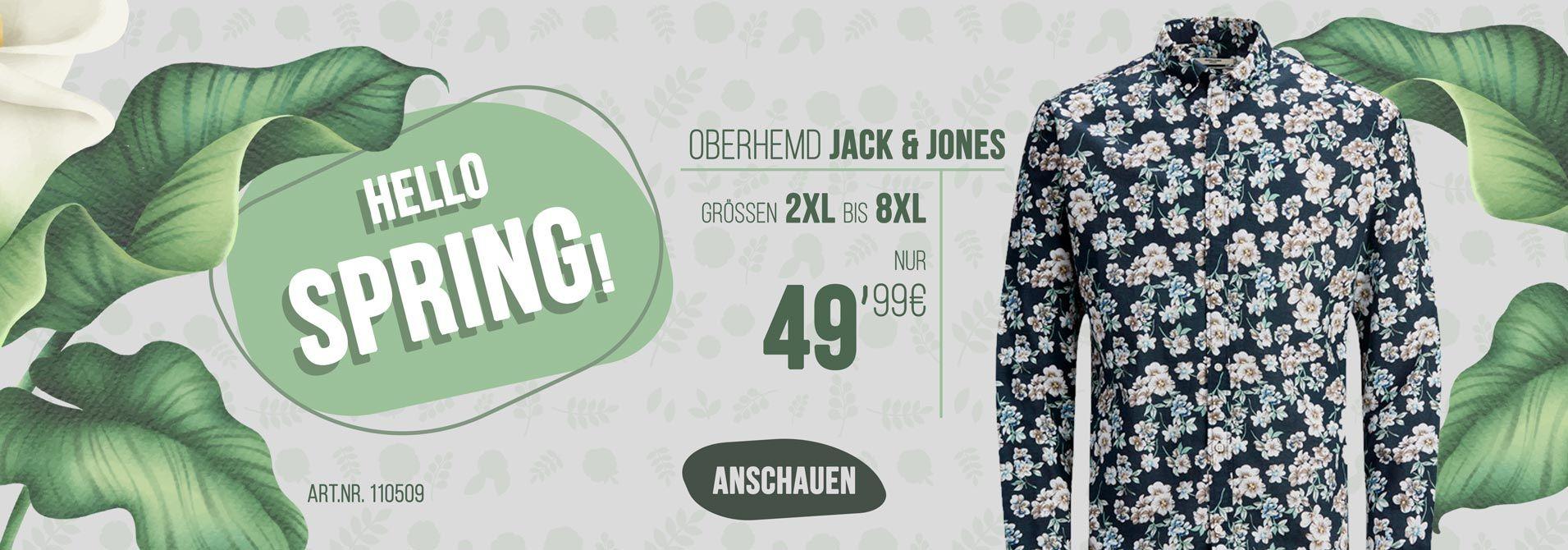 Übergrößen Herrenhemd von Jack & Jones